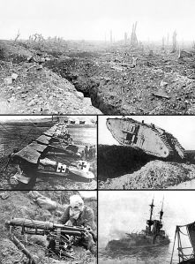 fallen snow - wwi collage