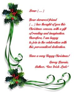 christmas dedication.