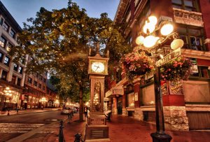 'Gastown'. Vancouver, British Columbia. One of the best known downtown neighbourhoods.